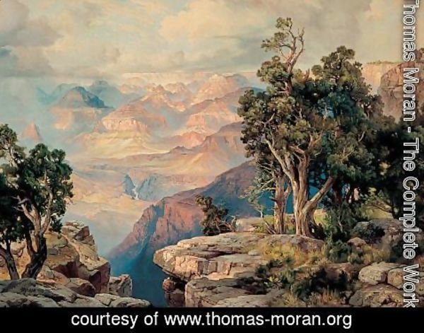 Thomas Moran - Grand Canyon of Arizona on the Santa Fe