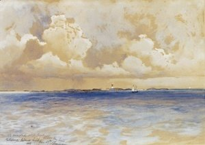 Thomas Moran - Bahama Island Light 1883