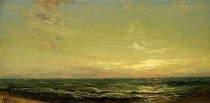 Thomas Moran - Sunset over the Sea