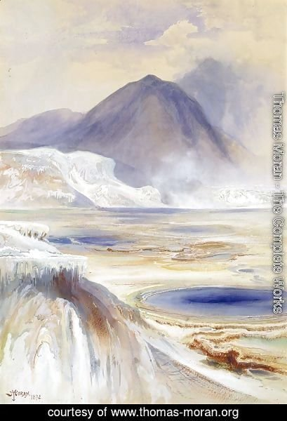 Thomas Moran - Mammoth Hot Springs, Yellowstone