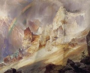 Thomas Moran - Rainbow over the Grand Canyon of the Yellowstone