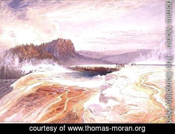 Thomas Moran - The Great Blue Spring of the Lower Geyser Basin, Yellowstone