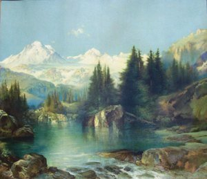 Thomas Moran - View of the Rocky Mountains