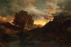Thomas Moran - The Evening Hunter 1867