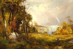 Thomas Moran - View of Philadelphia from Belmont Plateau, Fairmount Park
