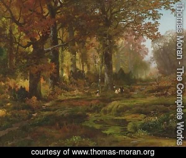 Thomas Moran - Nutting, Autumn