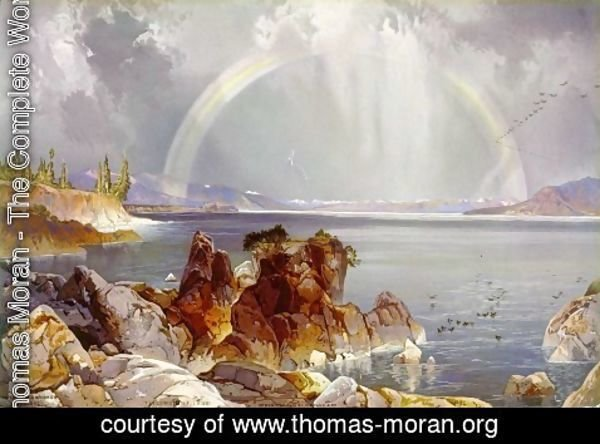 Thomas Moran - Yellowstone Lake, 1875