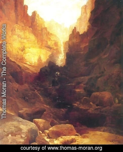 Thomas Moran - A Side Canyon of the Colorado