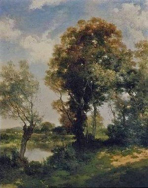 Thomas Moran - The Clearing, Long Island 1905