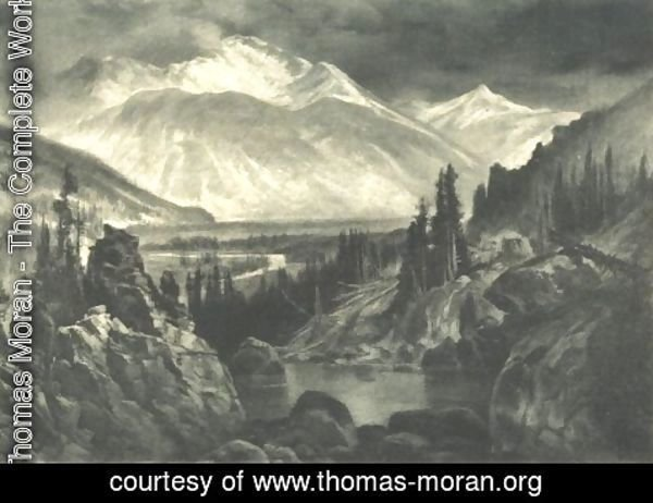 Thomas Moran - Sultan Mountain Baker's park