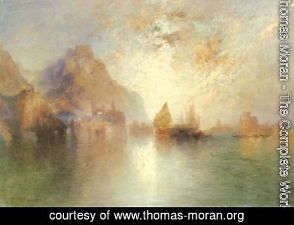 Thomas Moran - From The Arabian Nights 1892