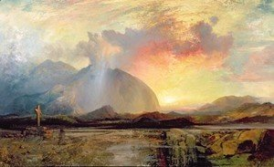 Thomas Moran - Sunset Vespers at the Old Rugged Cross