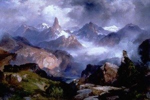 Thomas Moran - Index Peak, Yellowstone National Park,