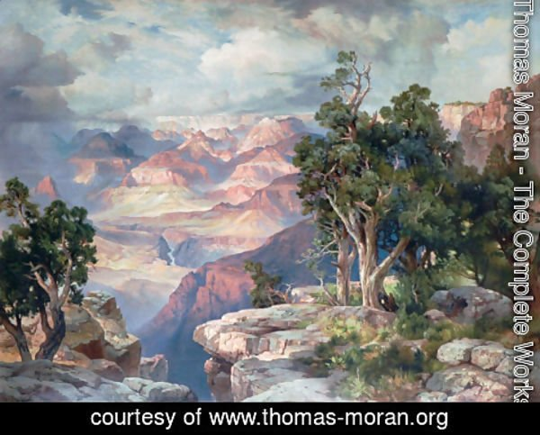 Thomas Moran - Grand Canyon of Arizona- Hermit Rim Road