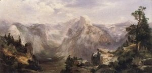 Thomas Moran - Half dome Yosemite 1904