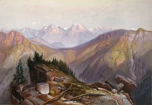 Thomas Moran - Lower Yellowstone Range Seen From Yellowstone National Park-3