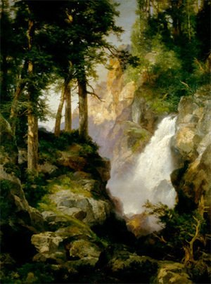 Thomas Moran - Falls at Toltec Gorge, 1913