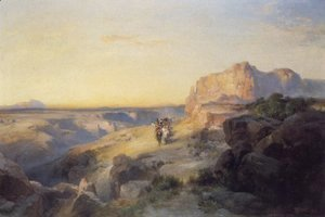 Thomas Moran - Red Rock Trail 1913