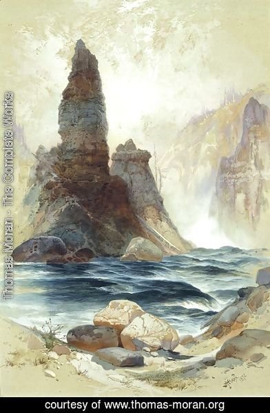 Thomas Moran - Above Tower Falls, Yellowstone