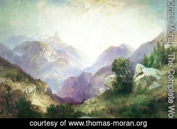 Thomas Moran - Index Peak 1918