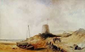 Thomas Moran - Mabello Tower on the Kentish Coast