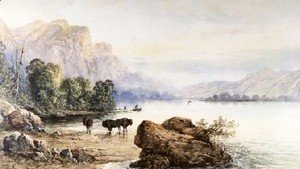 Thomas Moran - Buffalo Watering