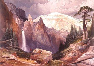 Thomas Moran - Tower Falls and Sulphur Mountain