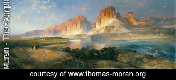 Thomas Moran - Nearing Camp, Evening on the Upper Colorado River