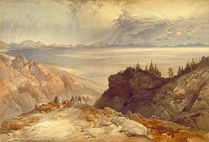 Thomas Moran - The Great Salt Lake of Utah, 1874