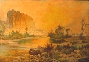Thomas Moran - The Cliffs of Green River 1874