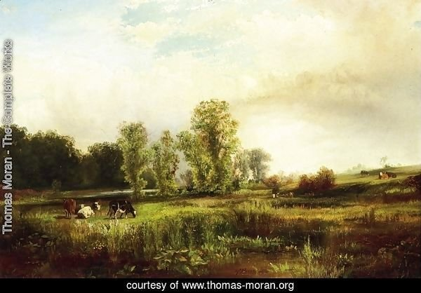 Summer Landscape with Cows