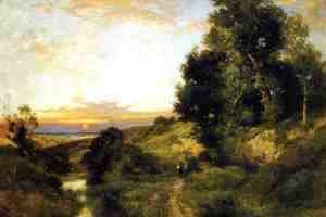 Thomas Moran - A Late Afternoon In Summer