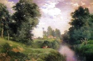 Thomas Moran - A Long Island River