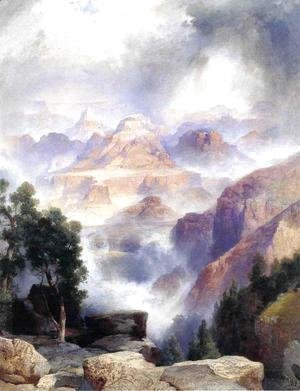 Thomas Moran - A Showrey Day  Grand Canyon