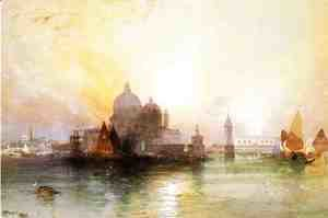 Thomas Moran - A View Of Venice