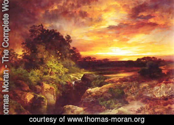 Thomas Moran - An Arizona Sunset Near The Grand Canyon