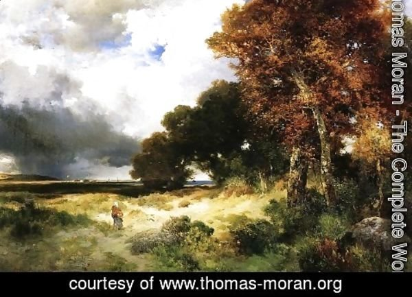 Thomas Moran - Autumn  Peconic Bay  Long Island
