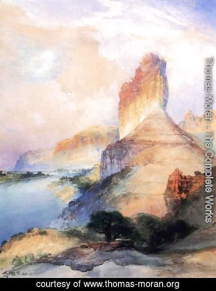 Thomas Moran - Castle Butte  Green River  Wyoming