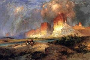 Thomas Moran - Cliffs Of The Upper Colorado River  Wyoming Territory