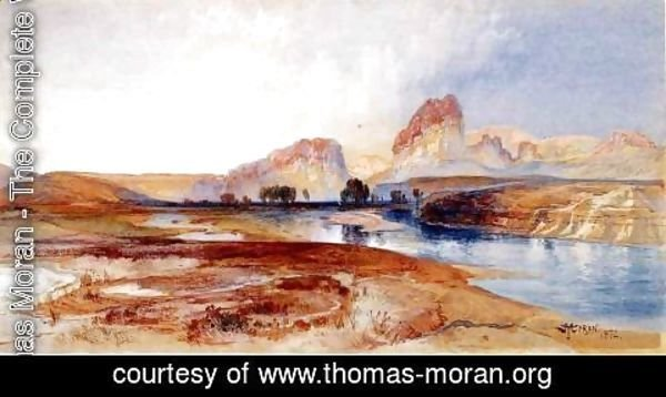 Thomas Moran - Cliffs  Green River  Wyoming