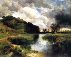 Thomas Moran - Cloudy Day At Amagansett