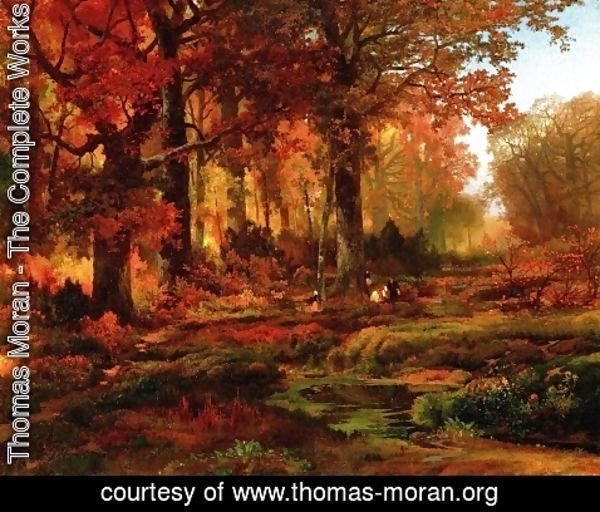 Thomas Moran - Cresheim Glen  Wissahickon  Autumn