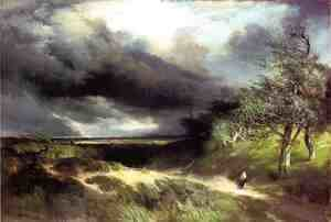 Thomas Moran - East Hampton  Long Island  Sand