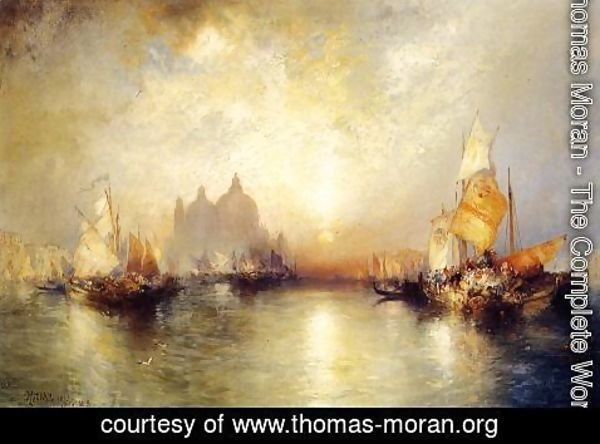 Thomas Moran - Entrance To The Grand Canal  Venice