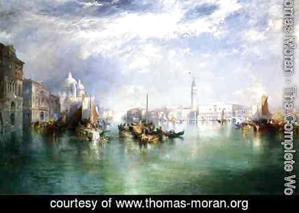Thomas Moran - Entrance To The Grand Canal  Venice2