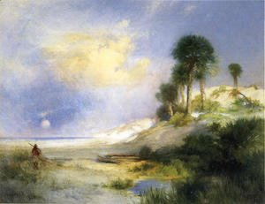 Thomas Moran - Fort George Island  Florida