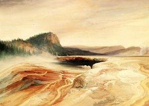 Thomas Moran - Giant Blue Spring  Yellowstone2