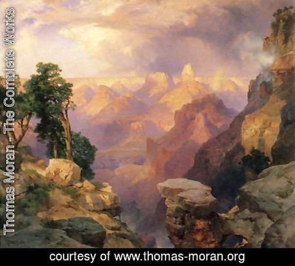 Thomas Moran - Grand Canyon With Rainbows