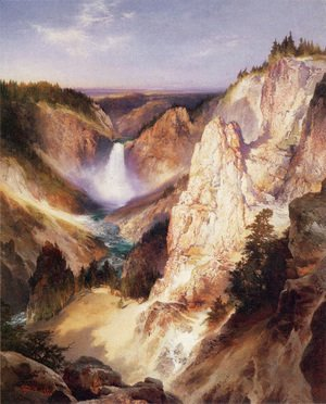 Thomas Moran - Great Falls Of Yellowstone