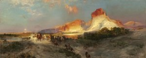 Thomas Moran - Green River Cliffs  Wyoming